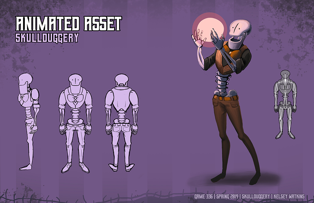 skullduggery animated asset
